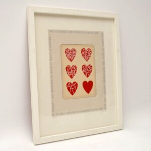 Take Art For The Heart - Signed Limited Edition Silkscreen Print by Tom Phillips 6/150