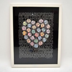 Love Hearts - Signed Limited Edition Silkscreen Print by Brad Faine 6/150