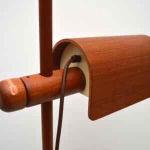 Danish Teak Retro Rise & Fall Floor Lamp Vintage 1960's
