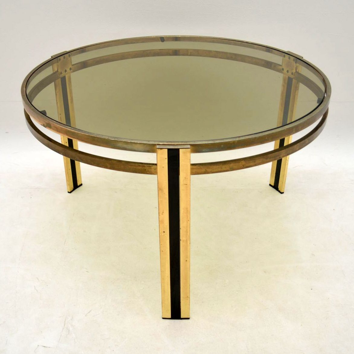 Retro Brass Coffee Table Vintage 1960's