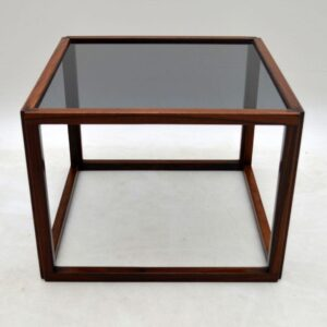 Danish Retro Rosewood Cube Coffee Table By Kai Kristiansen Vintage 1960's