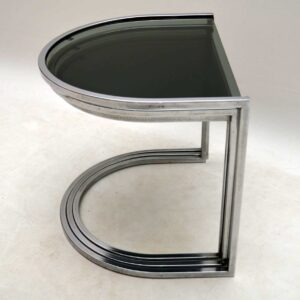 Retro Chrome Nest Of Tables Vintage 1960'S