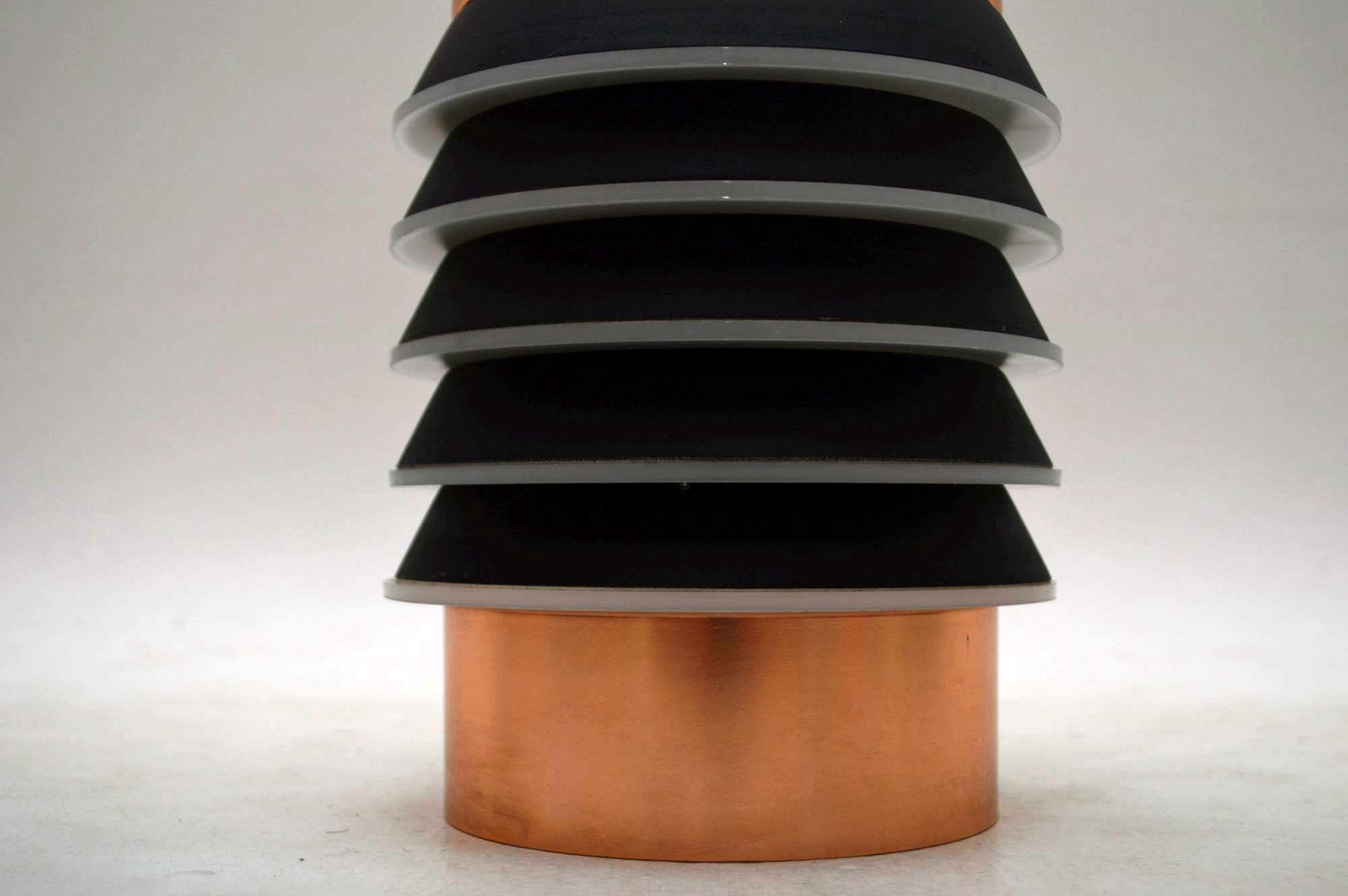 Danish Retro Copper Pendant Lamp Shade Vintage 1960 S