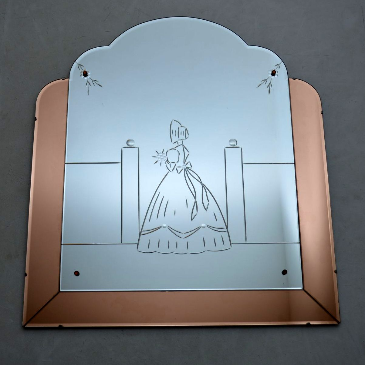 Art Deco Etched Glass Over Mantle Mirror Vintage 1920 S Retrospective Interiors Retro Furniture Vintage Mid Century Furniture Vintage Danish Modern Furniture Antique Furniture London