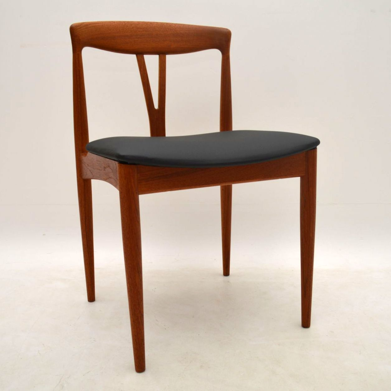 Set of 6 danish teak retro dining chairs vintage 1960s