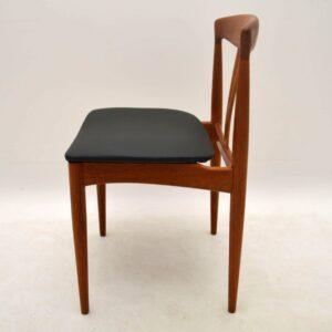 Set Of 6 Danish Teak Retro Dining Chairs Vintage 1960's