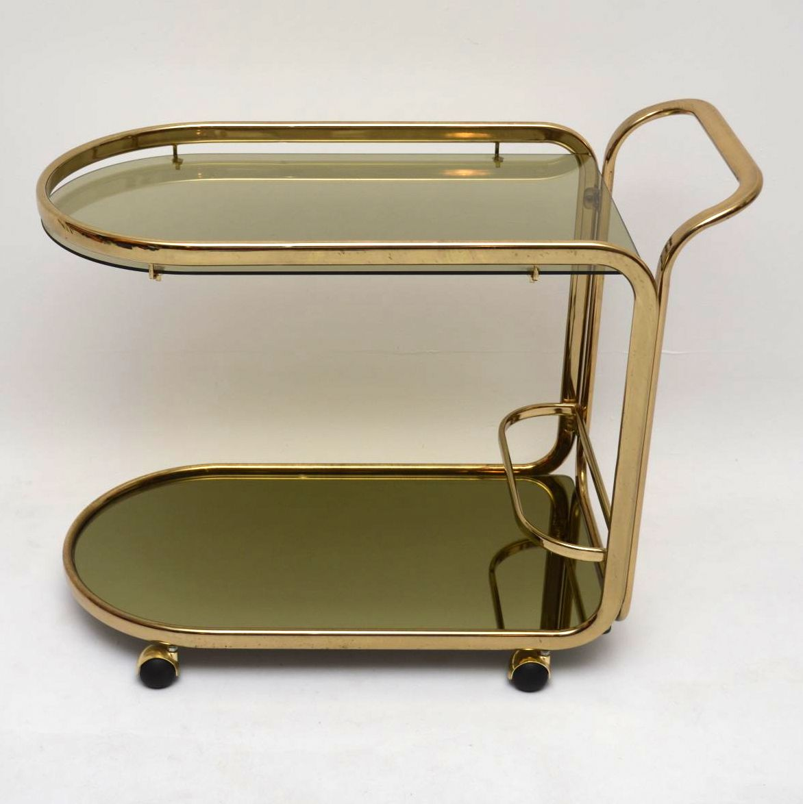 Retro Brass Drinks Trolley Vintage 1970's