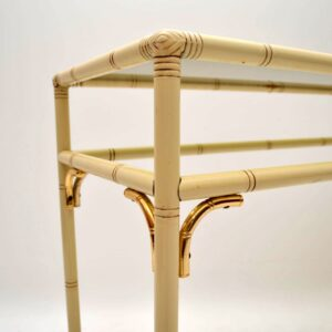 Retro Bamboo Effect Console Table Vintage 1970's