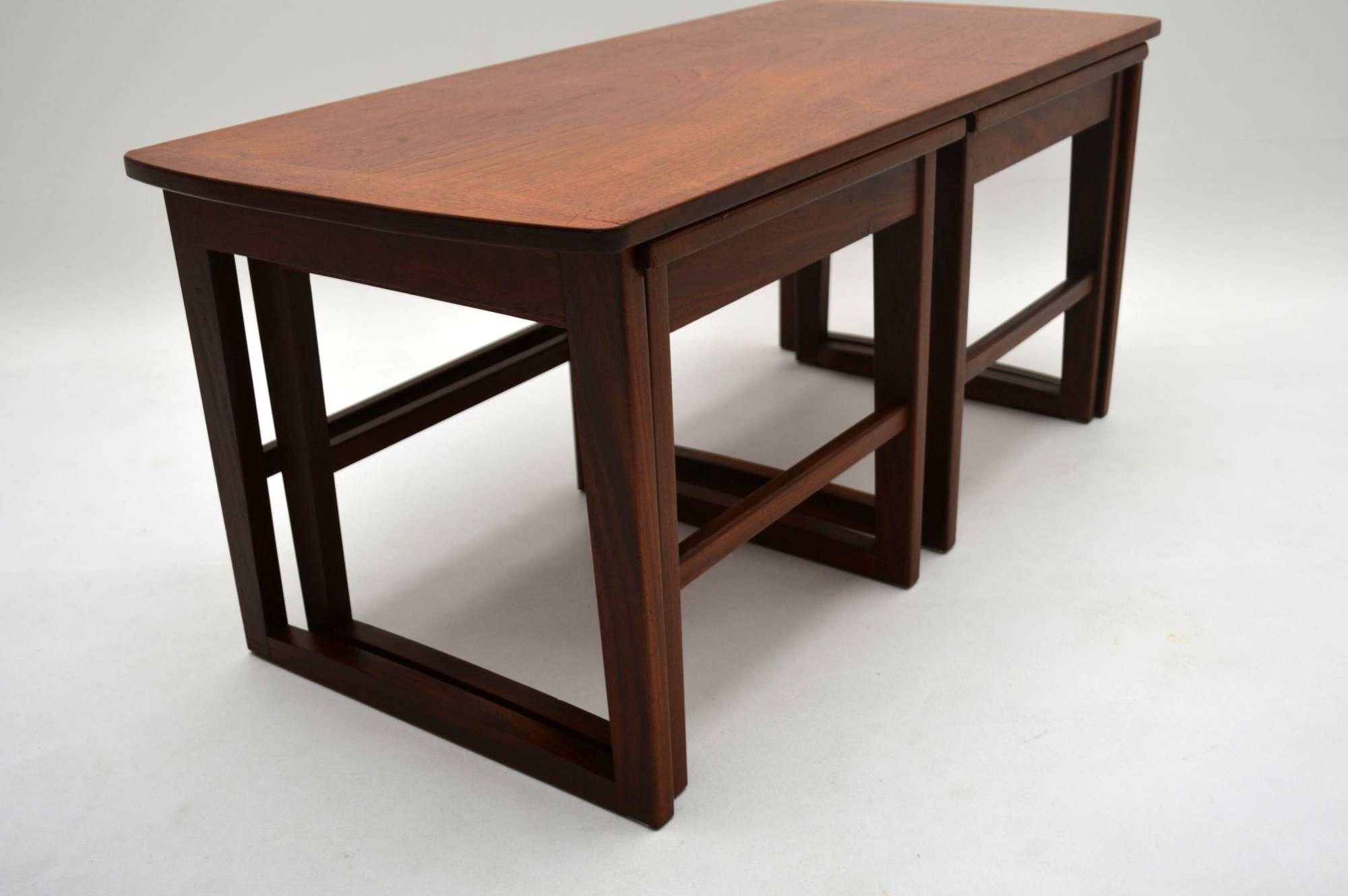 Retro Teak Nesting Coffee Table Vintage 1960 S Retrospective Interiors Vintage Furniture