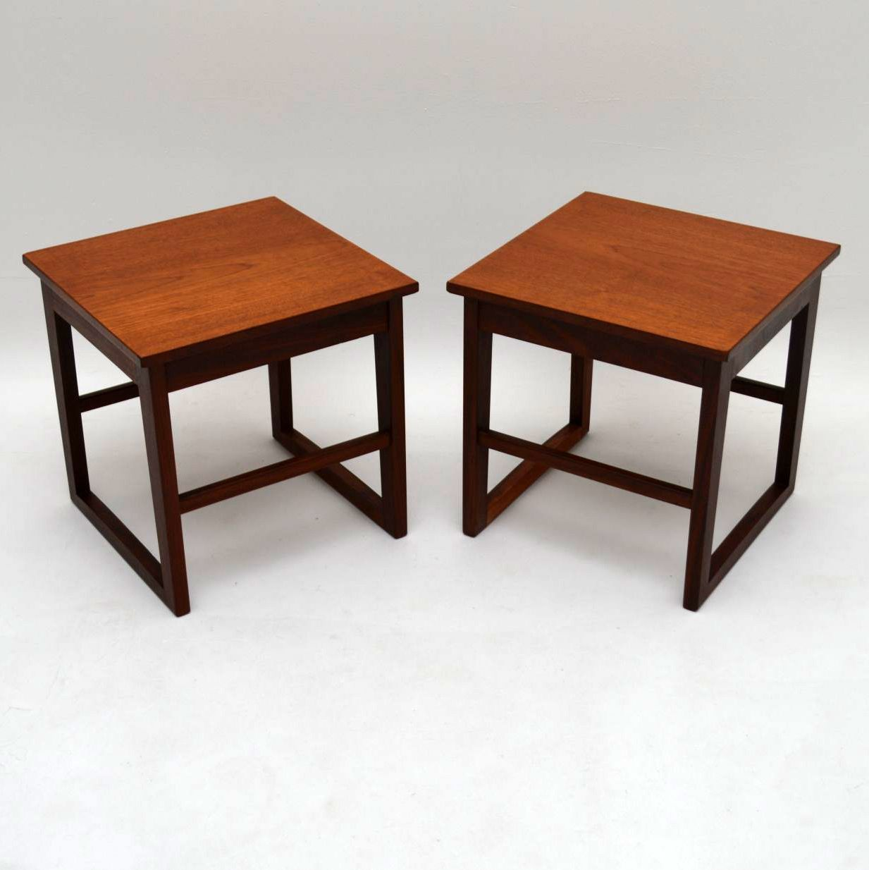 Vintage Teak Coffee Tables: Retro Teak Nesting Coffee Table Vintage 1960's