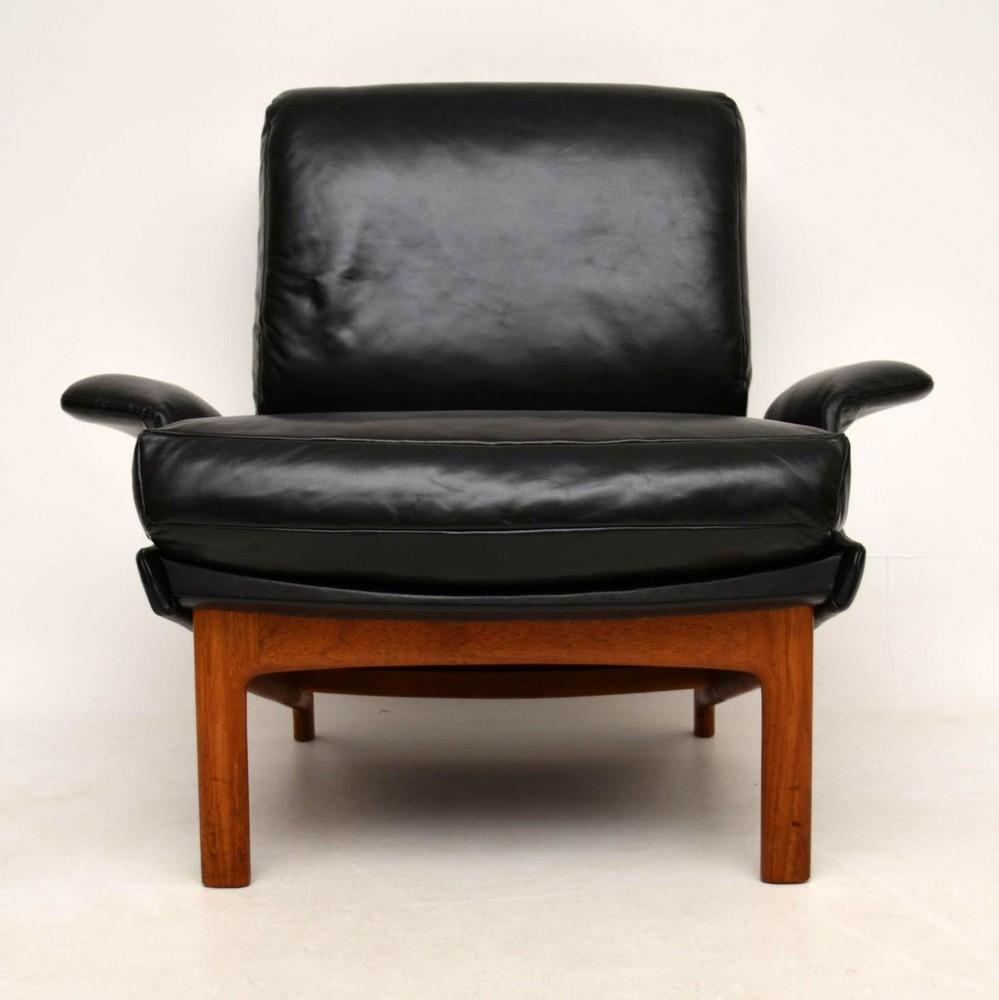 Danish Leather U0026 Teak U0027Eveu0027 Armchair By IB Kofod Larsen For Mogens Kold  Vintage ...