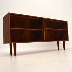 Danish Retro Rosewood Open Bookcase Vintage 1960'S