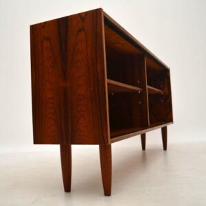 Danish Retro Rosewood Open Bookcase Vintage 1960'S