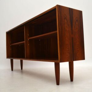 Danish Rosewood Open Bookcase Vintage 1960'S