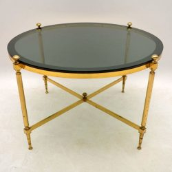 Retro Brass Coffee Table Vintage 1960's