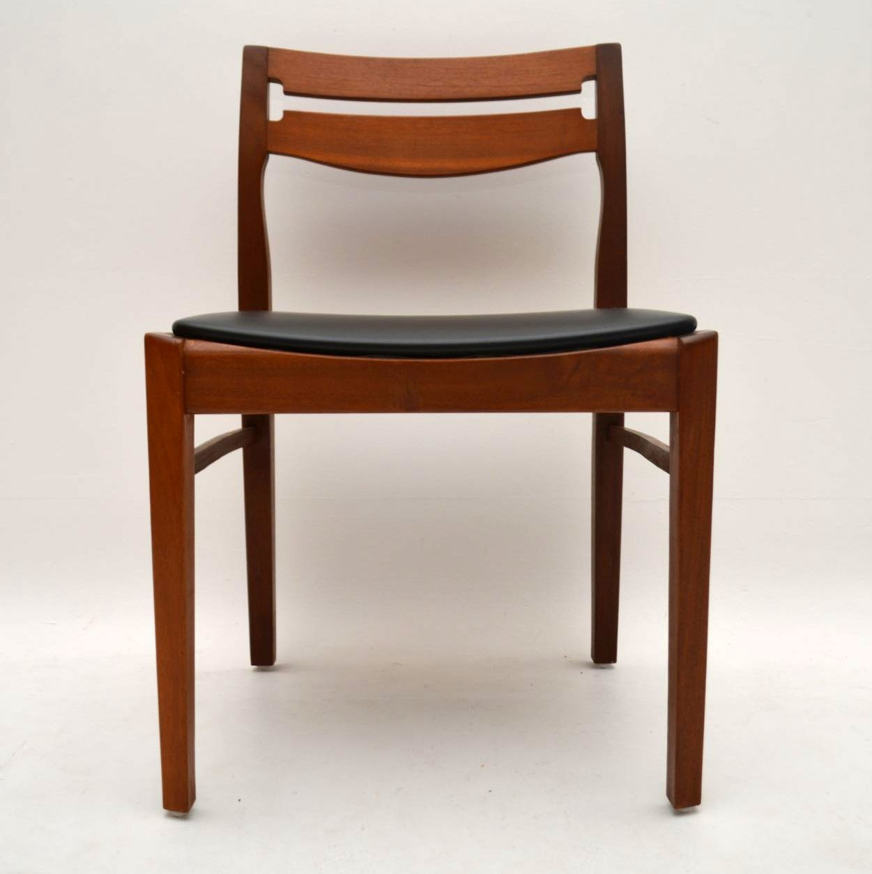 Set Of 6 Danish Teak Dining Chairs Vintage 1960 S