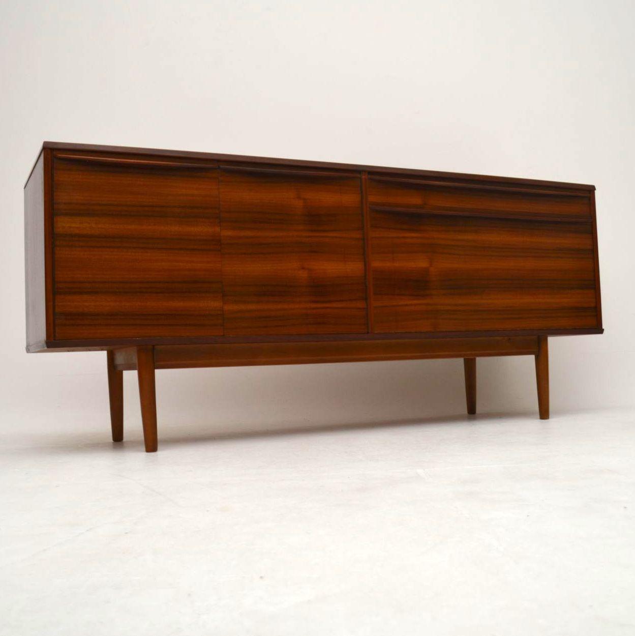 retro walnut sideboard by morris of glasgow vintage 1960 s. Black Bedroom Furniture Sets. Home Design Ideas