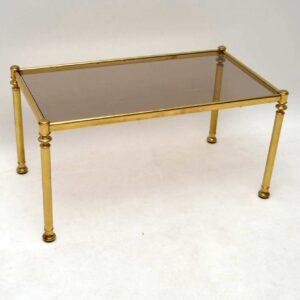 Retro Brass Nesting Coffee Table Vintage 1970's