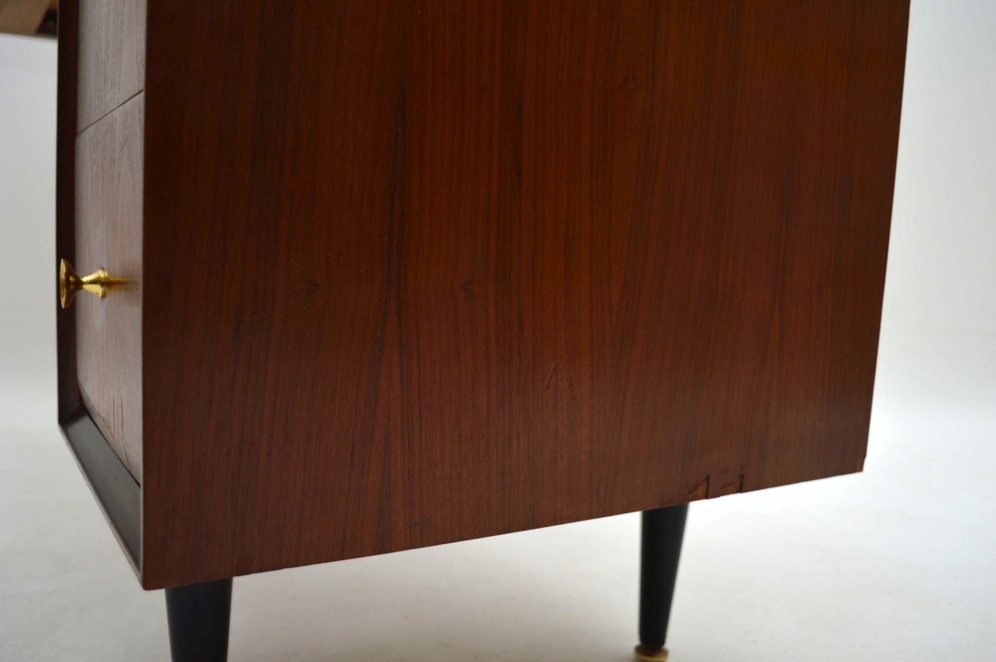 Retro Mahogany Desk Dressing Table With Lamp Vintage