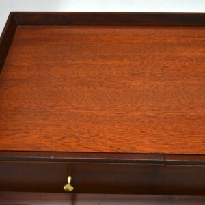 Retro Mahogany Desk / Dressing Table With Lamp Vintage 1950's
