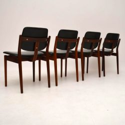 Set of 4 Danish Rosewood Dining Chairs by Arne Vodder for Sibast Vintage 1960's