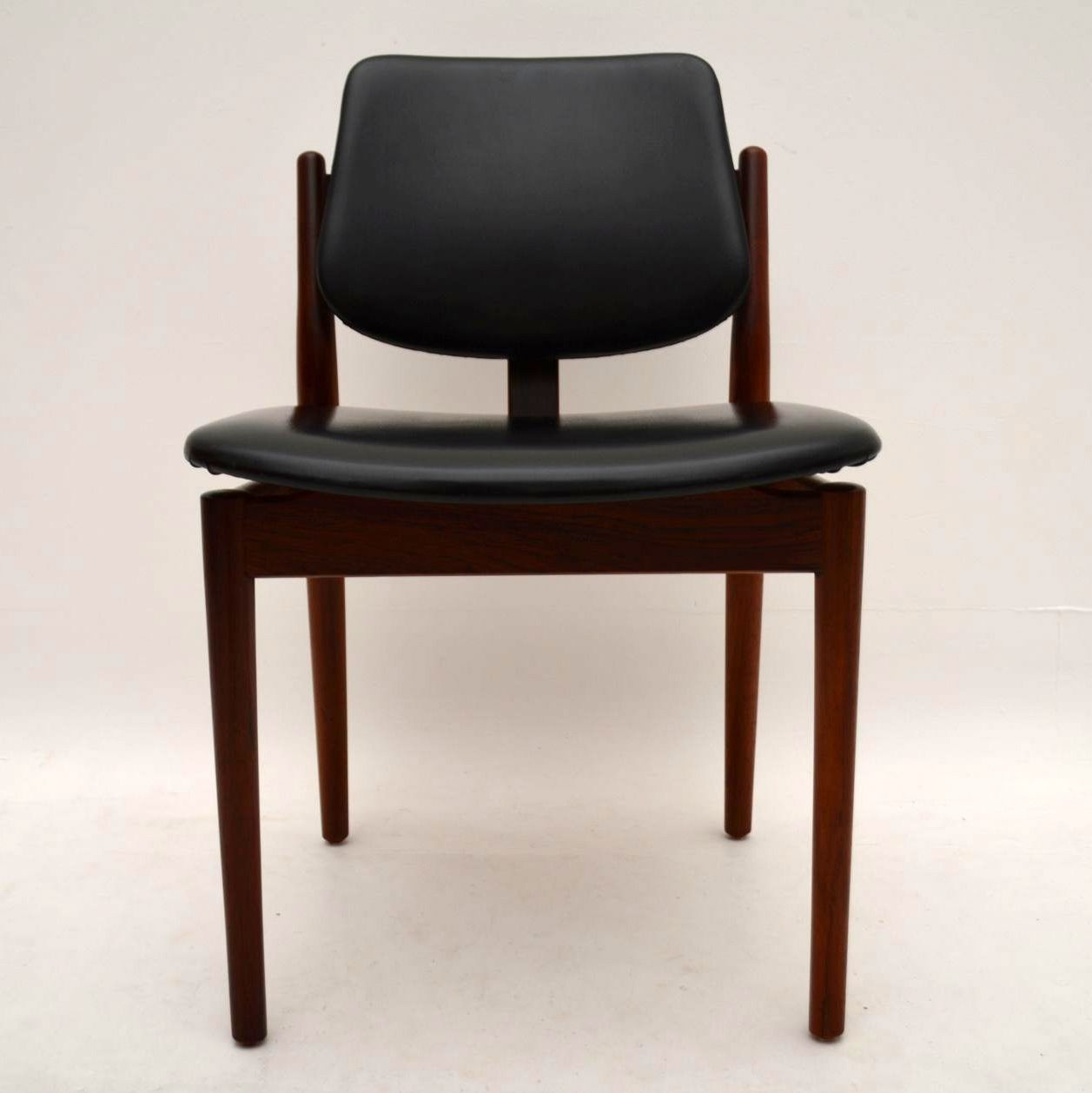 Danish Rosewood Dining Chairs By Arne Vodder Amp Danish