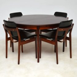 Danish Rosewood Dining Chairs by Arne Vodder & Danish Rosewood Dining Table
