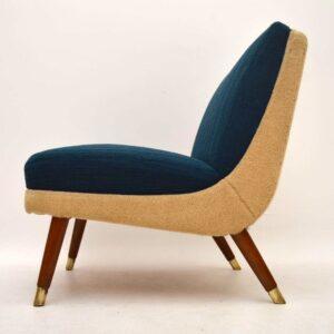 Pair of Retro Danish Easy Chairs Vintage 1950's