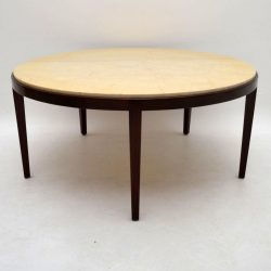 Danish Retro Rosewood & Marble Coffee Table Vintage 1960's