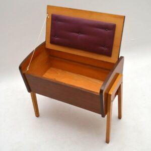 Retro Walnut Sewing Box Vintage 1960's