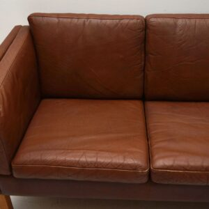 Danish Retro Leather Sofa Vintage 1960's