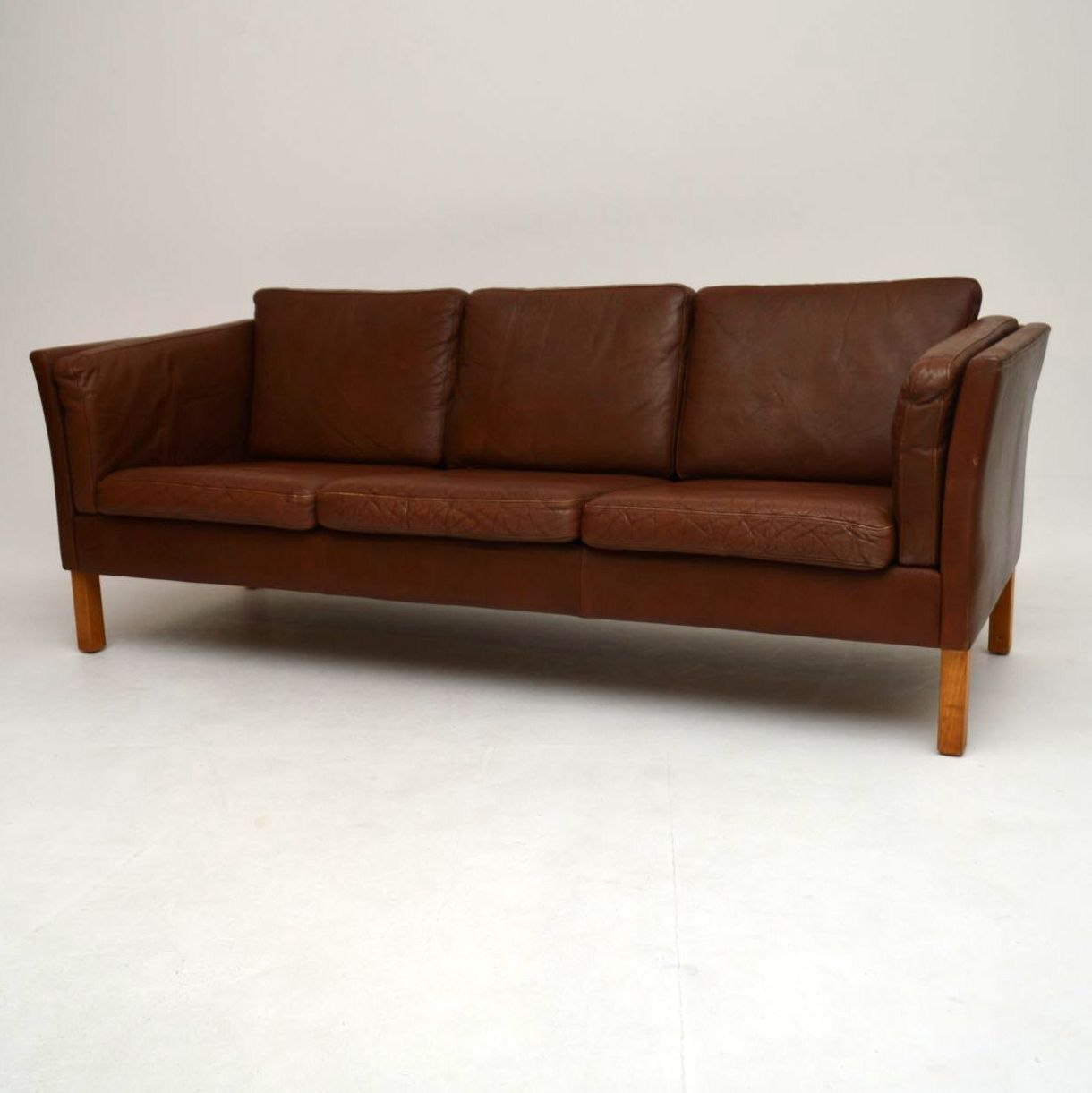Danish Retro Leather Sofa Vintage 1960 S Retrospective