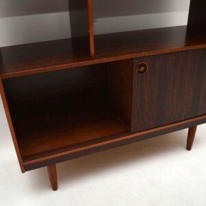 Retro Rosewood Effect Room Divider / Bookcase Vintage 1960's