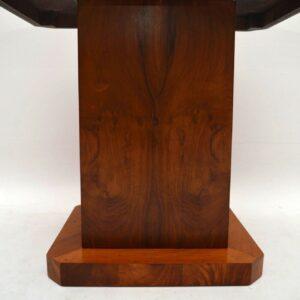 Art Deco Figured Walnut Coffee Table / Cabinet Vintage 1920's