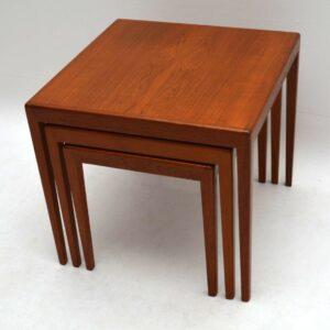 Danish Retro Teak Nest of Tables Vintage 1960's