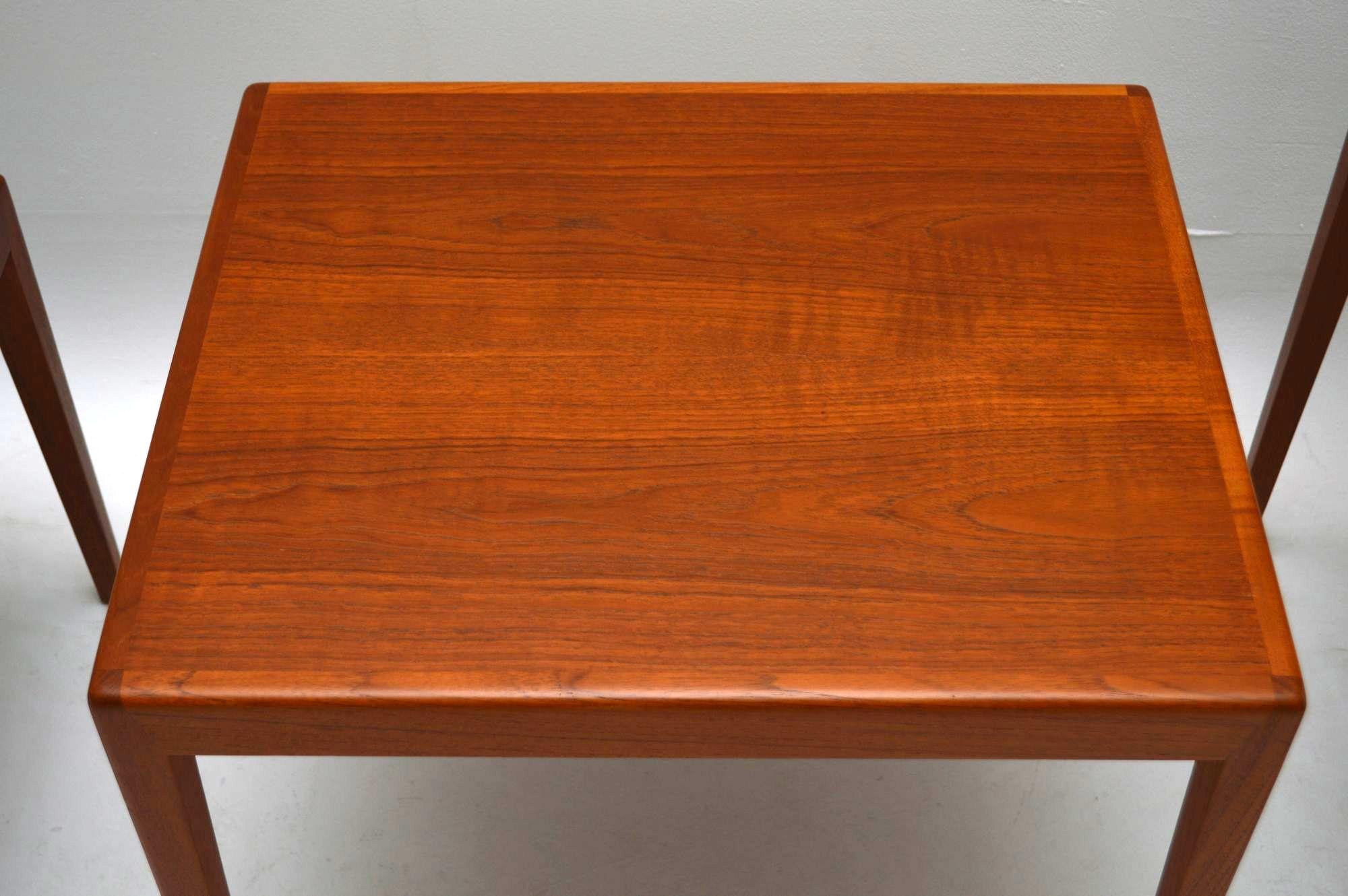 Danish Retro Teak Nest Of Tables Vintage 1960 S
