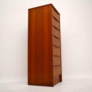 Danish Retro Teak Tallboy Chest of Drawers Vintage 1970's
