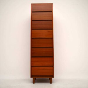 Retro Teak Tallboy Chest of Drawers Vintage 1960's