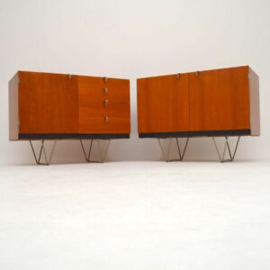 Pair of Retro Teak Cabinets by John & Sylvia Reid for Stag S Range Vintage 1950's