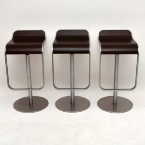 Set of 3 Modernist Italian LEM Bar Stools by Shin & Tomoko Azumi