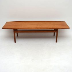 Danish Teak Retro Coffee Table by Grete Jalk Vintage 1960's