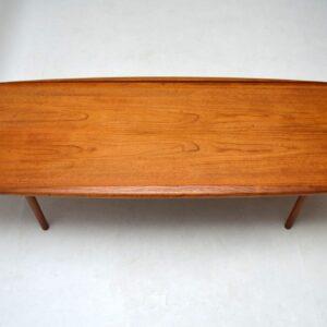 Danish Teak Retro Coffee Table by Grete Jalk Vintage 1960's