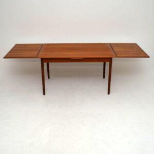 Danish Teak Retro Dining Table Vintage 1960's