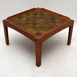Danish Teak Tiled Top Retro Coffee Table Vintage 1960's
