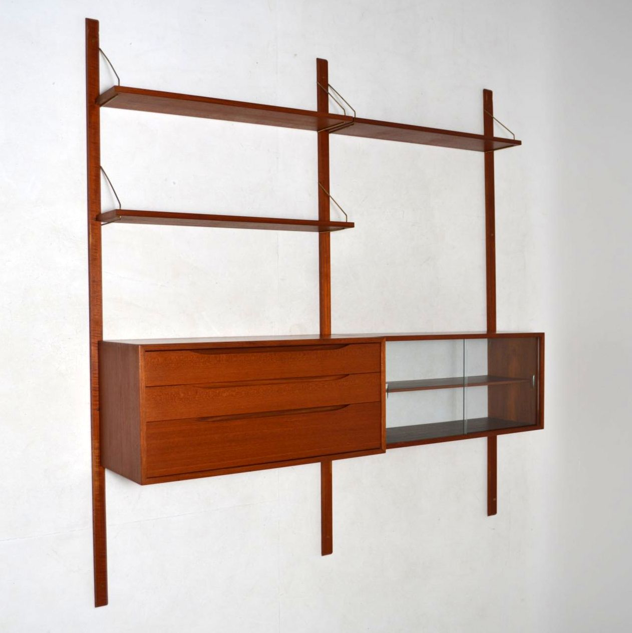 Retro Scandinavian Teak Bookcase Wall Unit By Torbjorn