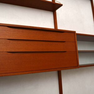 Retro Scandinavian Teak Bookcase / Wall Unit by Torbjorn Afdal for Bruksbo Vintage 1960's