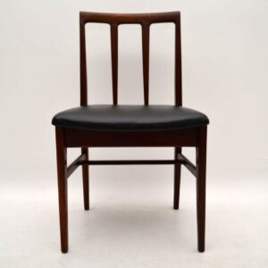 Retro Afromosia Dining Table & Chairs by John Herbert for Younger Vintage 1950's
