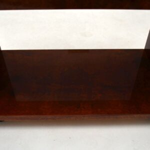 Retro Italian Drinks Trolley in Lacquered Goat Skin by Aldo Tura Vintage 1970's