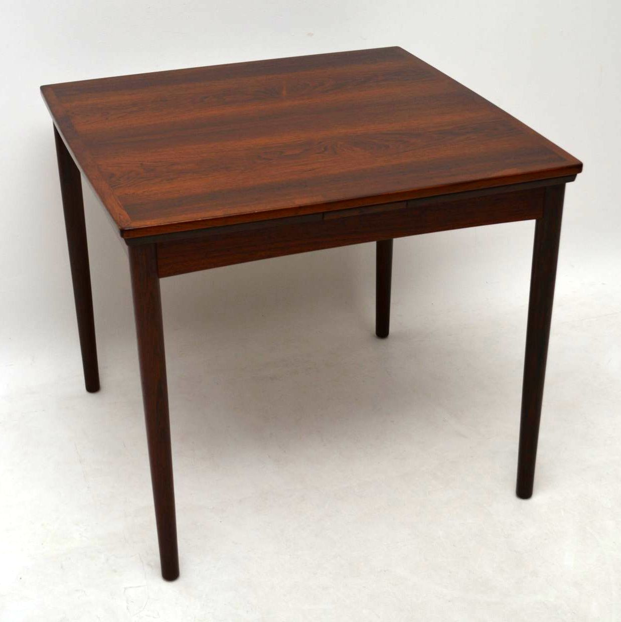 1960 S Danish Rosewood Retro Dining Table By Poul Hundevad