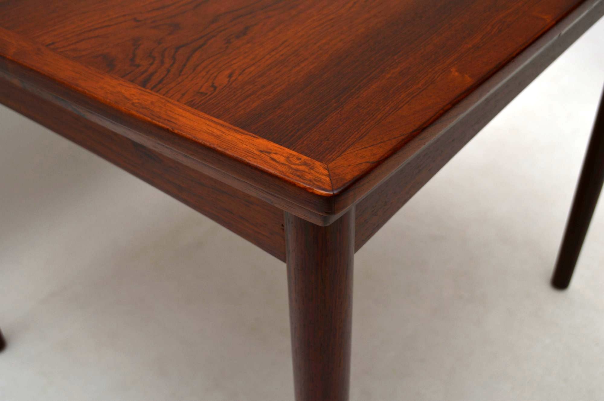 1960 s Danish Rosewood Retro Dining Table by Poul Hundevad Vintage
